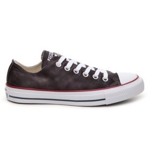 Converse Black Satin Low Tops
